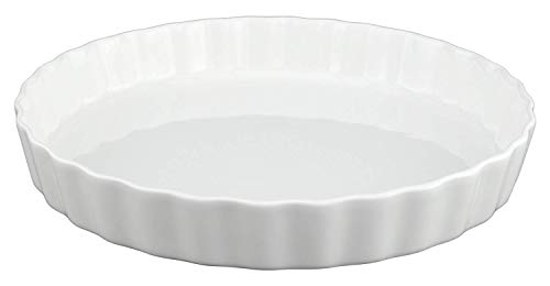 White, Fluted Quiche Baking Dish