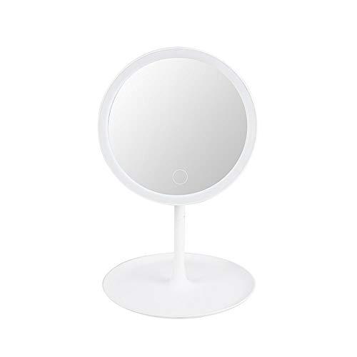 big face cat Miroir de Maquillage Conduit avec Lampe pour remplir la lumière de Miroir de Maquillage Dame Pliant loupe beauté Miroir de Maquillage, Blanc, USB (lumière de Trois Couleurs)