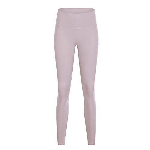 Alta Cintura Leggings Sport Pantalones,Sin línea, Pantalones de Yoga Desnuda, Pantalones de Cintura Alta de Cintura.-Beige 9_S,Leggings Push Up Mujer Mallas Pantalones