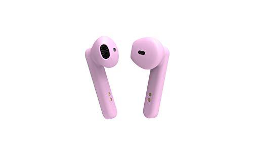 BE Pop, Auricolari Bluetooth 5.0 TWS, senza fili, suono stereo 3D HD, autonomia 6H, custodia di ricarica LED, facile da collegare, microfono integrato, leggeri e comodi per iPhone/Android (Rosa)