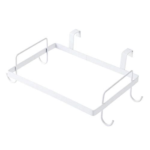 JGB-SNHSX Kitchen Cupboard Terug Vuilniszak Rack Cabinet Door Vuilniszak Holder Metal afvalrek Kitchen Gadgets Bag Storage Rack (Color : White)
