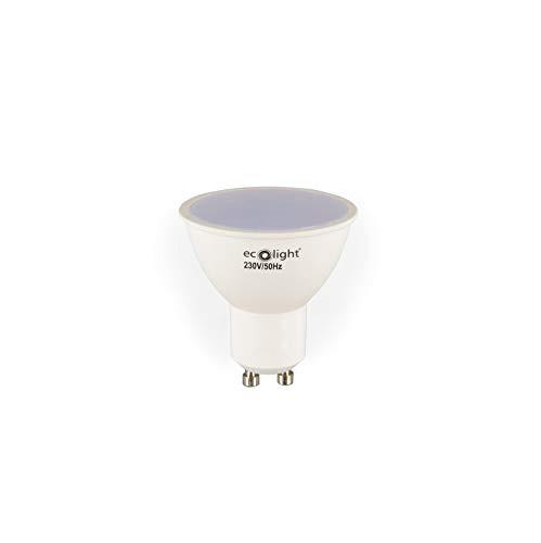 LED-Lampe, GU10, 7W, ersetzt 55W, Tageslichtweiß (6500 Kelvin), 630 Lumen, 120° Lichtkegel/Abstrahlwinkel, 10er Box