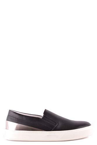 Tod's Luxury Fashion Damen MCBI37287 Schwarz Leder Slip On Sneakers   Jahreszeit Outlet