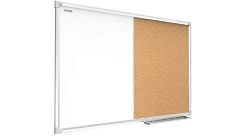 ALLboards Kombitafel aus Whiteboard und Kork mit Alurahmen 60x40cm Korktafel Memoboard Kombitafel Pinnwand Magnettafel Magnetboard