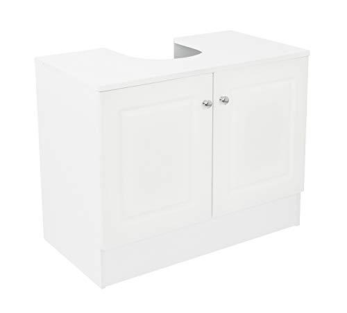 House & Homestyle unità sotto lavello, Legno, Bianco, H 56cm x W 70cm x D 37cm