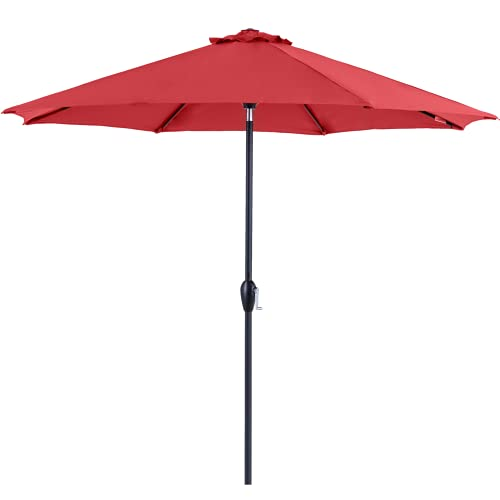 Tempera 9 ft Patio Umbrella Outdoor Patio Table Umbrella...