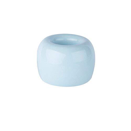 ONEVER Mini Porte-Brosse À Dents en Céramique Vintage en Porcelaine Brosse À Dents Salle de Bains Support de Stockage Organisateur Anneau (Bleu)