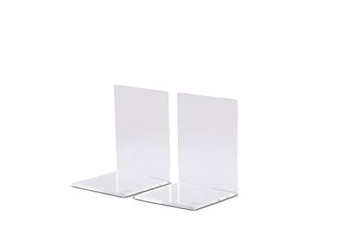 Maul Fermalibri, in acrilico di alta qualità Moderno 8 x 8 x 10 cm trasparente, 2 pezzi