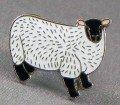 Broche en métal émaillé Motif mouton-agneau (brebis Ram)