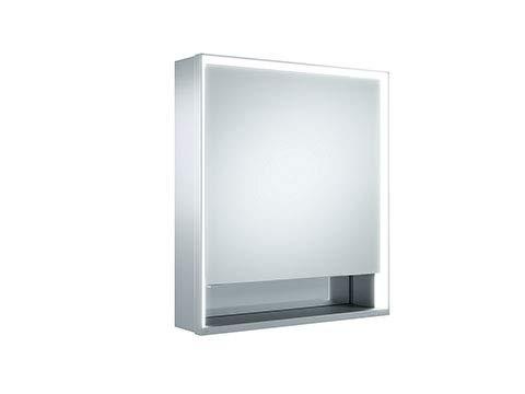 Keuco Royal Lumos Spiegelschrank 14301, 1 Drehtür, Wandvorbau, Anschlag rechts, 650mm