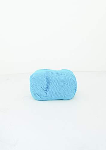 SewCrafte Juego de 3 ovillos de lana 100% para tejer, celestial, suave, perfecto para tejer, ganchillo, manta de bebé, muebles, ropa de abrigo, ropa activa, tres bolas, 3 ovillos de lana – Acqua Azul