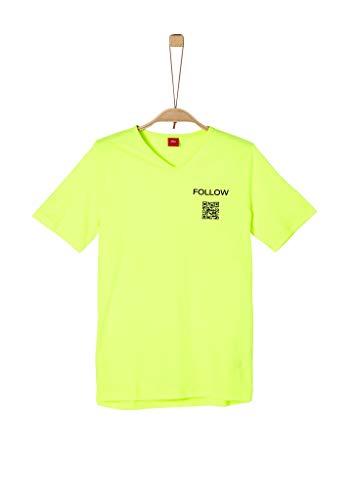 s.Oliver Junior Jungen Kurzarm T-Shirt, 0071 Neon Yellow, M/REG