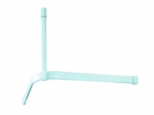 Spirella Surprise Tringle d'angle pour rideau de douche Fixation plafond Chrome Blanc 60 cm