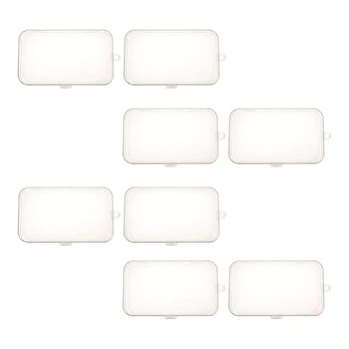 Toddmomy 8 Piezas de Funda Transparente para Chupete Funda para Chupete Clip para Chupete Caja para Chupete Accesorios para Chupete