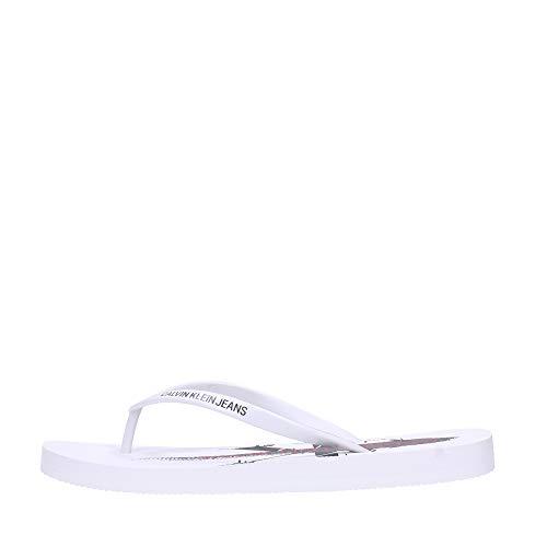 Calvin Klein - Chanclas para Mujer Art B4R0905, Color Blanco, tamaño a Elegir
