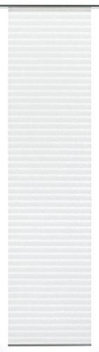 GARDINIA Flächenvorhang (1 Stück), Schiebegardine, Blickdicht, Flächenvorhang Natur-Optik, Weiß, 60 x 300 cm (BxH)