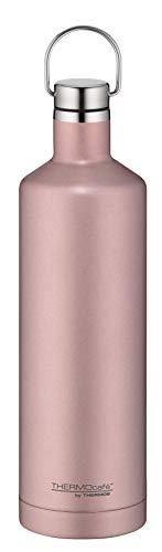 ThermoCafé by THERMOS Thermosflasche Traveler Bottle Rosé Gold 750ml, Edelstahl Trinkflasche 100% dicht auch bei Kohlensäure, Isolierflasche 12 Stunden heiß, 24 Stunden kalt, BPA-Frei, 4070.284.075