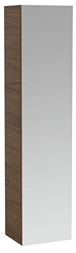 Lopende ILBAGNOALESSI Eén hoge kast met spiegel, met afgedekte plank, rechterscharnier, 2 binnenladen, 1 deur, 1700x400x300, Kleur: Wit gelakt - H4580420976311
