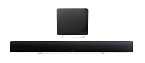 Harman/Kardon Sabre SB 35 Wireless Bluetooth Lautsprechersystem (HDMI 8.1-Kanal, Home-Entertainment Soundbar, Kompaktem 100 Watt Subwoofer, Kompatibel mit Apple iOS/Windows/Android Geräten) schwarz