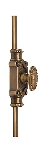 A29 Hardware 2 Feet Beaded Style Brass Cremone Bolt for Cabinets, Antique Brass Finish