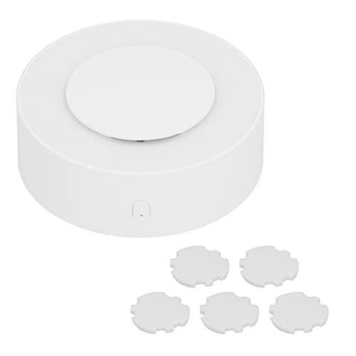 Yisenda Difusor de Aroma, difusor de Aroma de Coche Abierto de un botón de Escritorio portátil USB Blanco con luz Ambiental para Dormir para Coche para el hogar