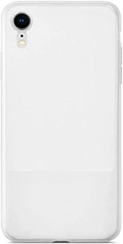 Coolwee Ultra Thin iPhone XR Case Liquid Silicone Slim Semi Transparent Grip Matte White Translucent Gel Rubber Cover for Women Girls Protective Cover Case for Apple iPhone XR 6.1 inch White