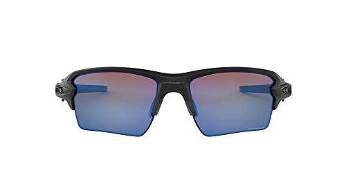 Oakley Flak 2.0 Xl 918858 59 Occhiali da sole, Nero (Matte Black/Prizmdeeph2Opolarized), Uomo