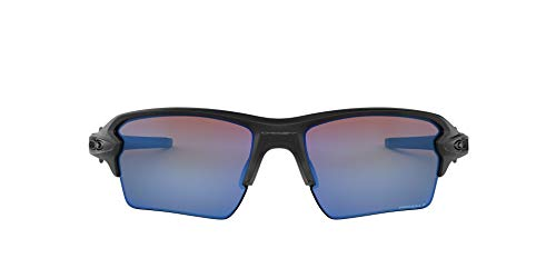 Oakley Men#039s OO9188 Flak 20 XL Rectangular Sunglasses Matte Black/Prizm Deep H2O Polarized 59 mm