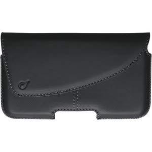 Cellularline Tie Handy-Etui mit Gürtel aus echtem Leder schwarz