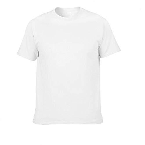 2019 - Camiseta de verano para monopatín (100% algodón), Blanco, M