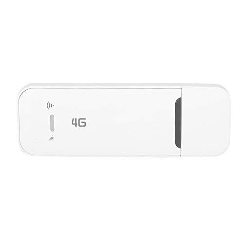 Hochgeschwindigkeits-LTE/4G-USB-Dongle mit 100 Mbit/s, Drahtloses Netzwerk USB-WLAN-Adapter Hotpot-Dongle-Empfänger FDD: B1/B3/B5, Plug and Play, Weiß