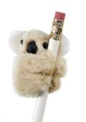 JR Koala Clip On Pencil Clip Huggers 12 Pack Brown