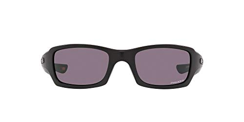 Oakley Men's OO9238 Fives Squared Rectangular Sunglasses, Matte Black/Prizm Grey, 54mm