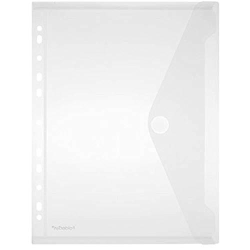 Foldersys Dokumententasche, mehrfach gelocht, DIN A4, PP, vertikal, 10er-Packung, transparent