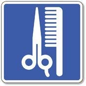 AmyyEden Señal de Metal de Aluminio con símbolo de salón de Belleza y barbería, 30 x 30 cm
