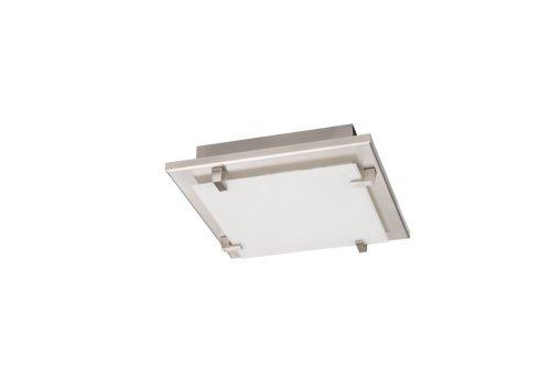 Philips 321291710 Adria plafondlamp, nikkel, 2 x 23 W, 230 V, aluminium; metaal; glas, E27, chroom, wit