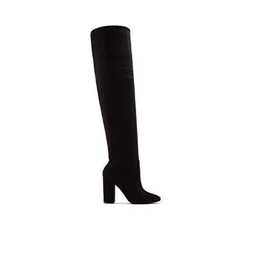 ALDO Damen Maede Blockabsatz Overknee Stiefel, Schwarz (schwarz), 38.5 EU