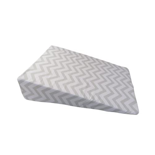 Colchón para cuna anti reflujo (Zig Zag Gris)