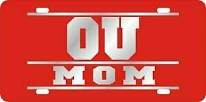 Sooners OU MOM Red Laser License Plate