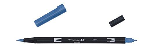Tombow Dual Brush-528 - Rotulador doble punta pincel, color azul marino