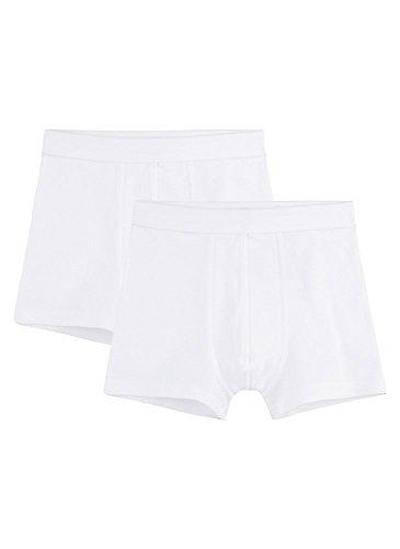 Sanetta Jungen Shorts im Doppelpack aus Bio-Baumwolle - Made in Europe - weiß (01), 140