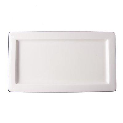 """Tria Rectangular Plate, 5"""" x 10 1/2"""", Neo Plus Collection, 12 per case"""