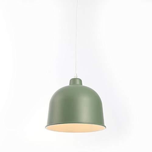 E27 Moderno Metallo Industriale Lampada a Sospensione Illuminazione Lampadario Lustro Soffitto Industrial Edison da Soffitto Luce Lampadario(Verde)