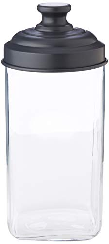 ITALO OTTINETTI quadratisch Glas lackiertem Aluminium Deckel 1,5Liter, grau, one Size