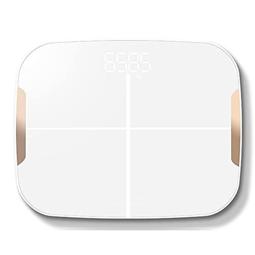 ZREYLLB Escala de Grasa Corporal Digital Inteligente con Bluetooth Báscula de Peso Inalámbrica para Baño Analizador de Composición Corporal Dispositivo de Medición de Grasa Corporal APLICACIÓN IMC