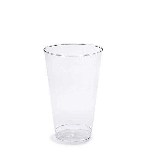 Einwegbecher aus Kunststoff für Hochzeiten und Partys, 400 ml, transparent, 200 Stück