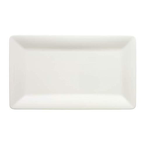 Villeroy & Boch Pi Carre Platte, Premium Porzellan, Weiß, 32x19cm