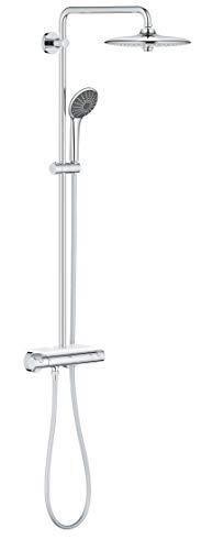 Grohe Vitalio joy System 260, Brause-und Duschsysteme mit Thermostatbatterie für die Wandmontage, Chrom, 26403001