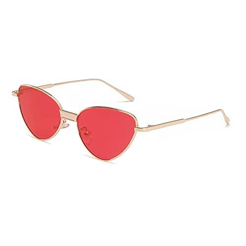 Gafas de Sol Gafas De Sol De Metal Retro con Forma De Ojo De Gato para Hombre Y Mujer, Gafas De Sol De Ojo De Gato A La Moda, Gafas Sexis Bonitas con Personalidad C5