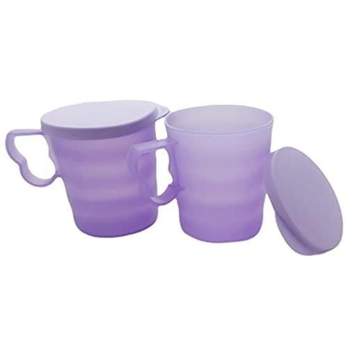 Tupperware Set (2) Junge Welle vaso con asa 350 ml taza lila claro